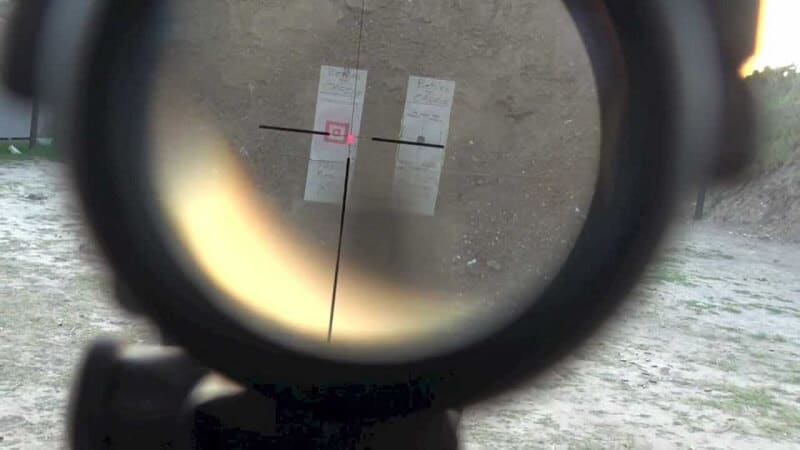 setting the target with a Trijicon ACOG 4x32