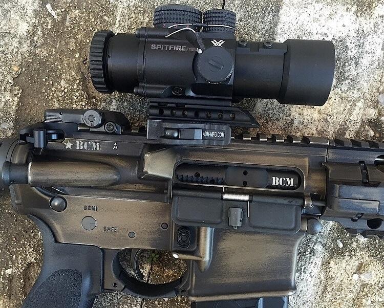 Vortex Spitfire 3x scope mounted on a rifle