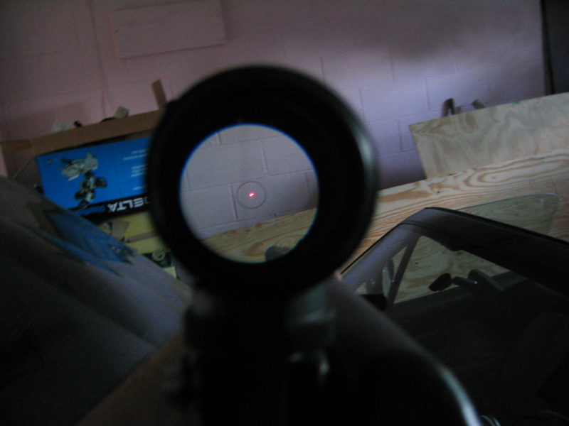 close-up photo showing what you can see through a rifle scope