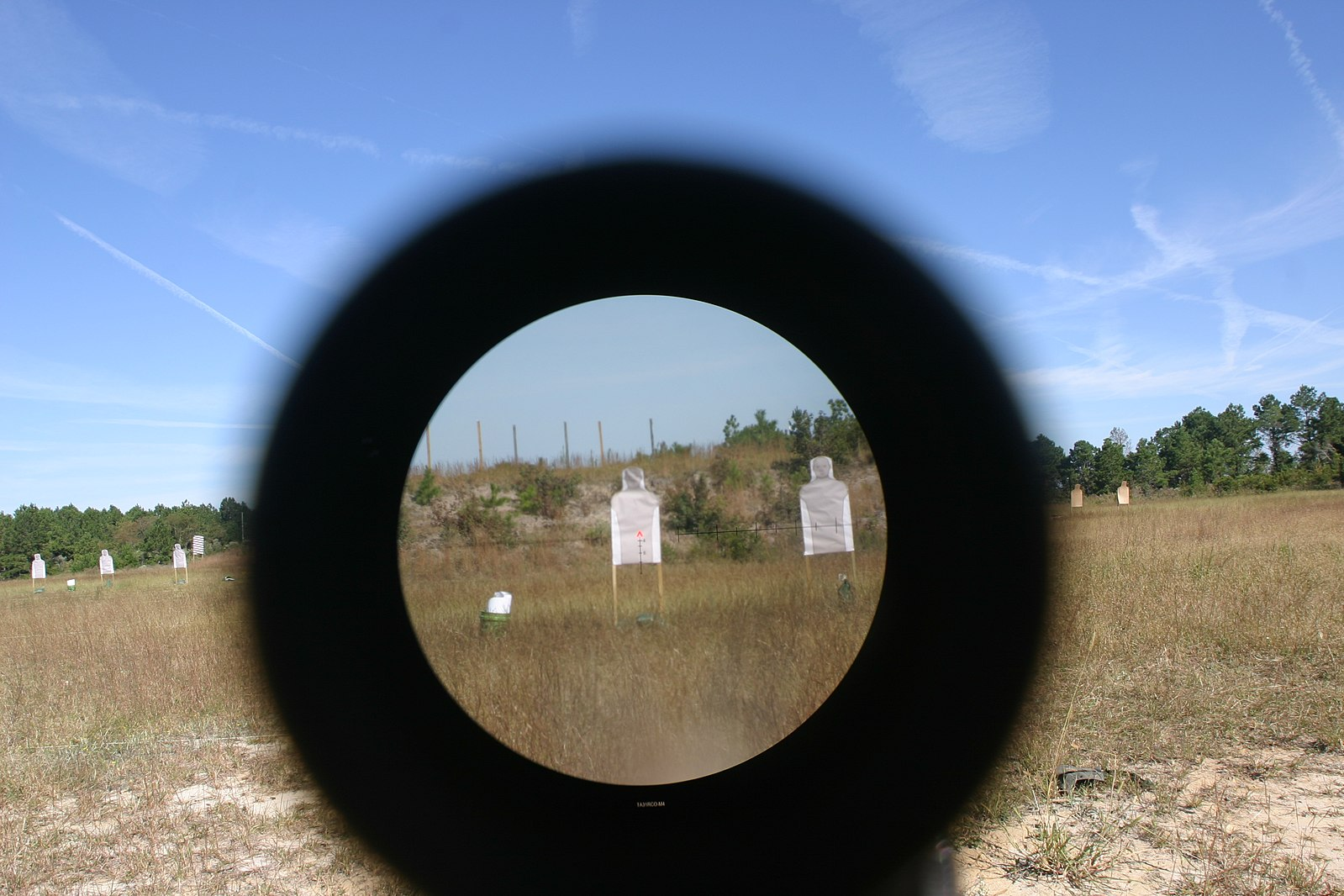 target on sight through the scope