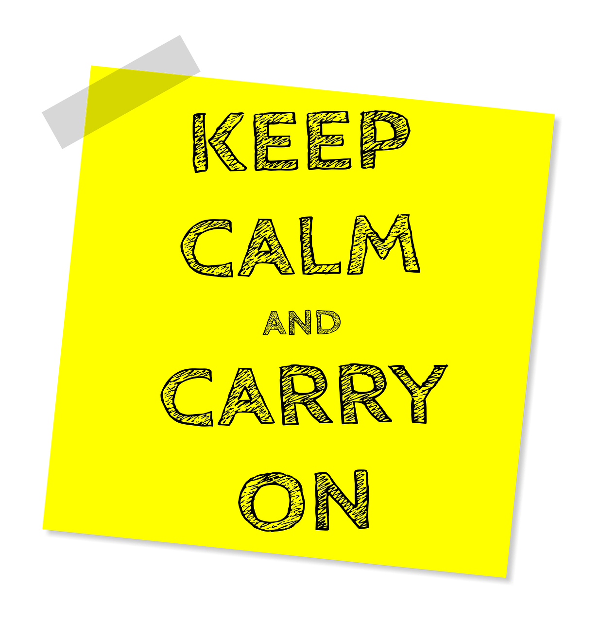 keep calm and carry on post it