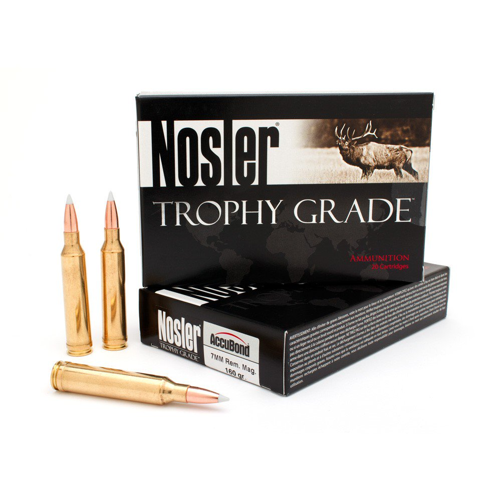 product photo of Nosler Trophy Grade Ammunition 7mm Remington Magnum