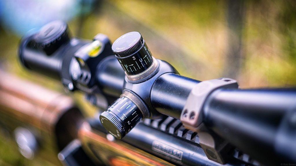 close up shot of rifle gun